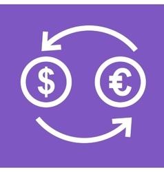 Currency exchange rates vector