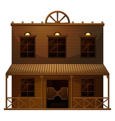 A wild west bar vector image vector image