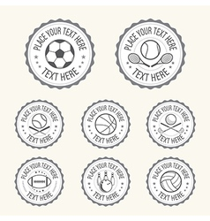 Badge Sports badge football golf tennis basketball vector image