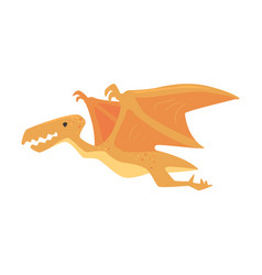 cartoon pterosaurs dinosaur character jurassic vector image