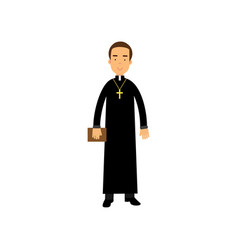 Catholic priest character religion representative vector
