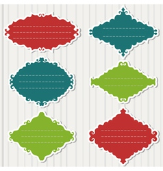 Colored frames on grey background vector