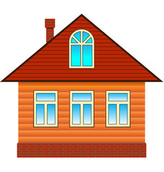 country house with attic vector image vector image