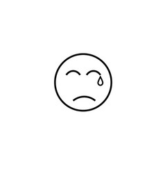 crying emotion icon vector image