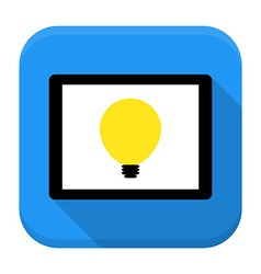 Desk with lamp idea app icon with long shadow vector image vector image