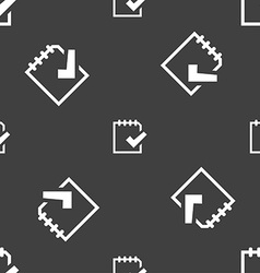 Edit document sign icon seamless pattern on a gray vector