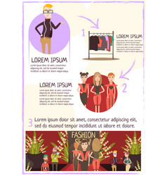 Fashion event review infographics vector
