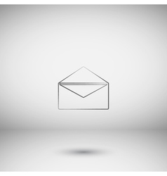 Flat style icon of envelope E-mail vector image vector image