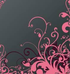 floral background design vector image