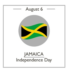 Jamaica independence day vector