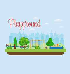 kids playground buildings for city construction vector image vector image