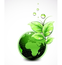 Natural green world with leaves and water vector