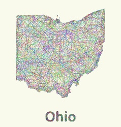 Ohio line art map vector