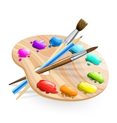 paint brush vector image vector image