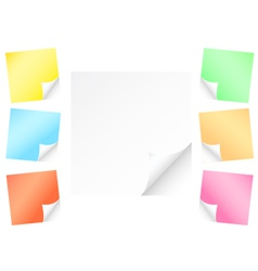 post-it vector image vector image