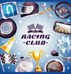 Racing club frame vector
