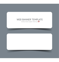 Realistic web banner header footer vector image vector image