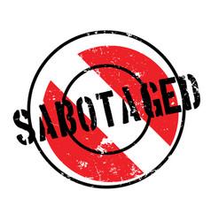 sabotaged rubber stamp vector image
