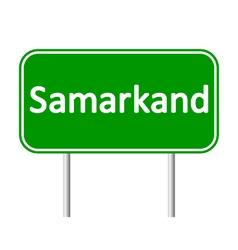 Samarkand road sign vector