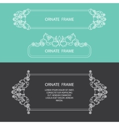 Set decorative frame vector