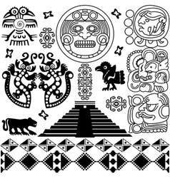 Set of Ancient America small vector image