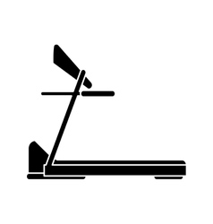 silhouette treadmill machine sport fitness vector image