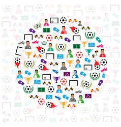 Soccer circle icons background eps10 vector image vector image