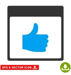Thumb up calendar page eps icon vector