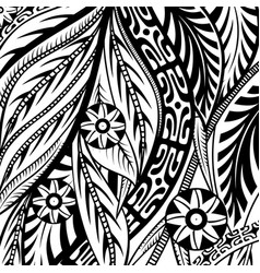 tribal and floral pattern vector image