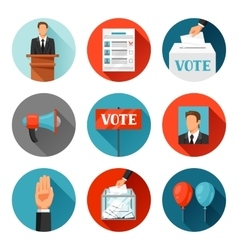 Vote political elections icons for vector image vector image