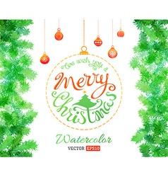 Watercolor christmas vector
