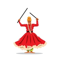 Desert festival indian dancer cartoon vector