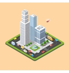isometric urban city vector image