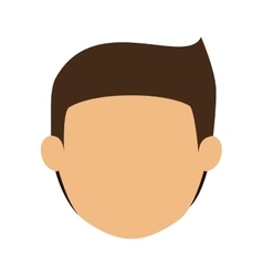Head man with brown hair without face vector