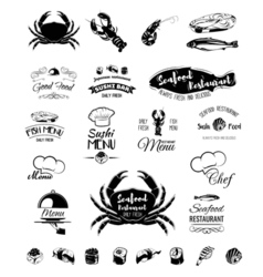 Restaurant menu design cafe menu cover seafood vector