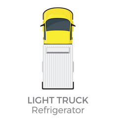 refrigerator light truck top view flat icon vector image