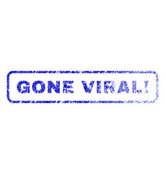 Gone viral exclamation rubber stamp vector