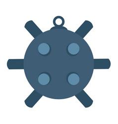 naval mine isolated icon sea vector image