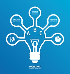 light bulb line infographics options banner vector image