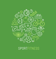Linear sport and fitness logo vector
