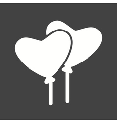 Heart shaped baloon vector