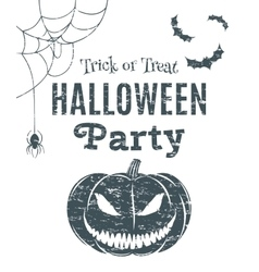 Halloween party poster template vector image
