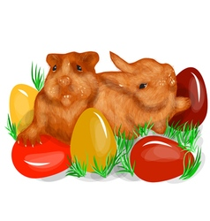 Animal fun easter vector