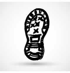 Boot print vector image