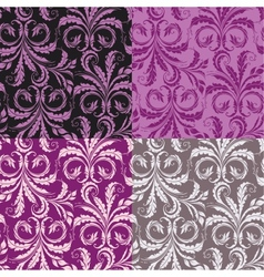 Decorative seamless floral background vector image