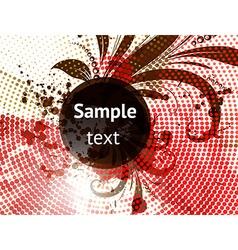 Autumn grunge floral design vector