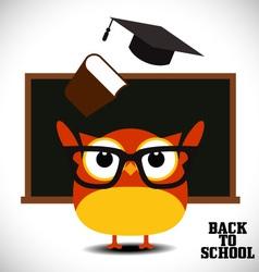 Back to school owl vector image vector image