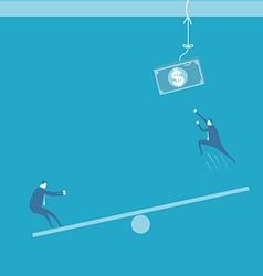 Businessman and benefit vector image