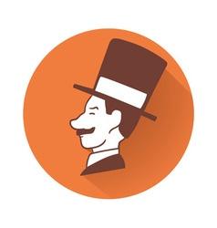 Businessman head symbol vector image vector image