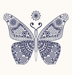 butterfly for coloring page vector image vector image